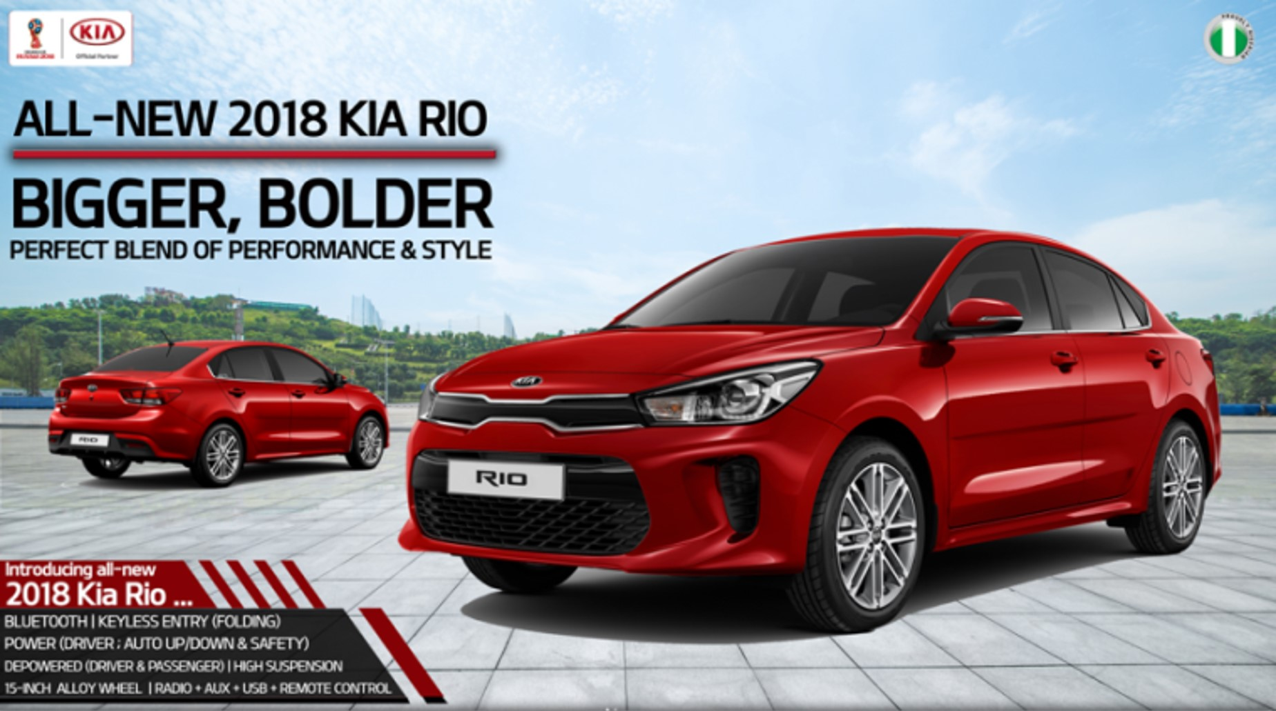 kia nigeria introduces 2018 kia rio bigger bolder. Black Bedroom Furniture Sets. Home Design Ideas