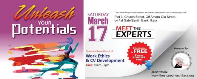Unleash Your Potentials - The Stone Church Organizes Meet The Experts... - Brand Spur