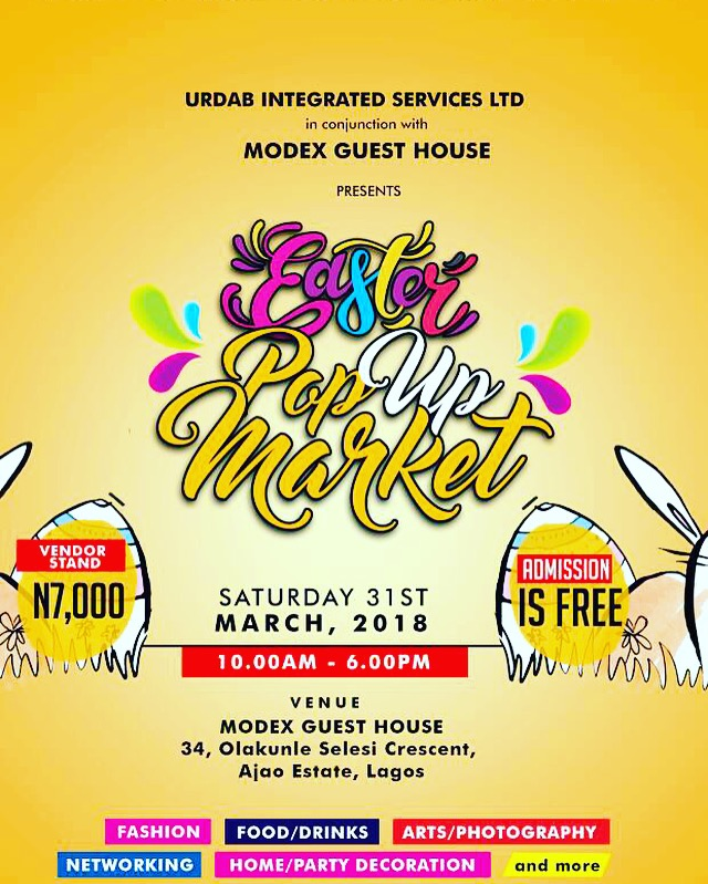 URDAB INTEGRATED SERVICES NIGERIA PRESENTS THE 2ND EDITION OF ITS POP-UP MARKET EVENT - EASTER EDITION (Pictures) - Brand Spur