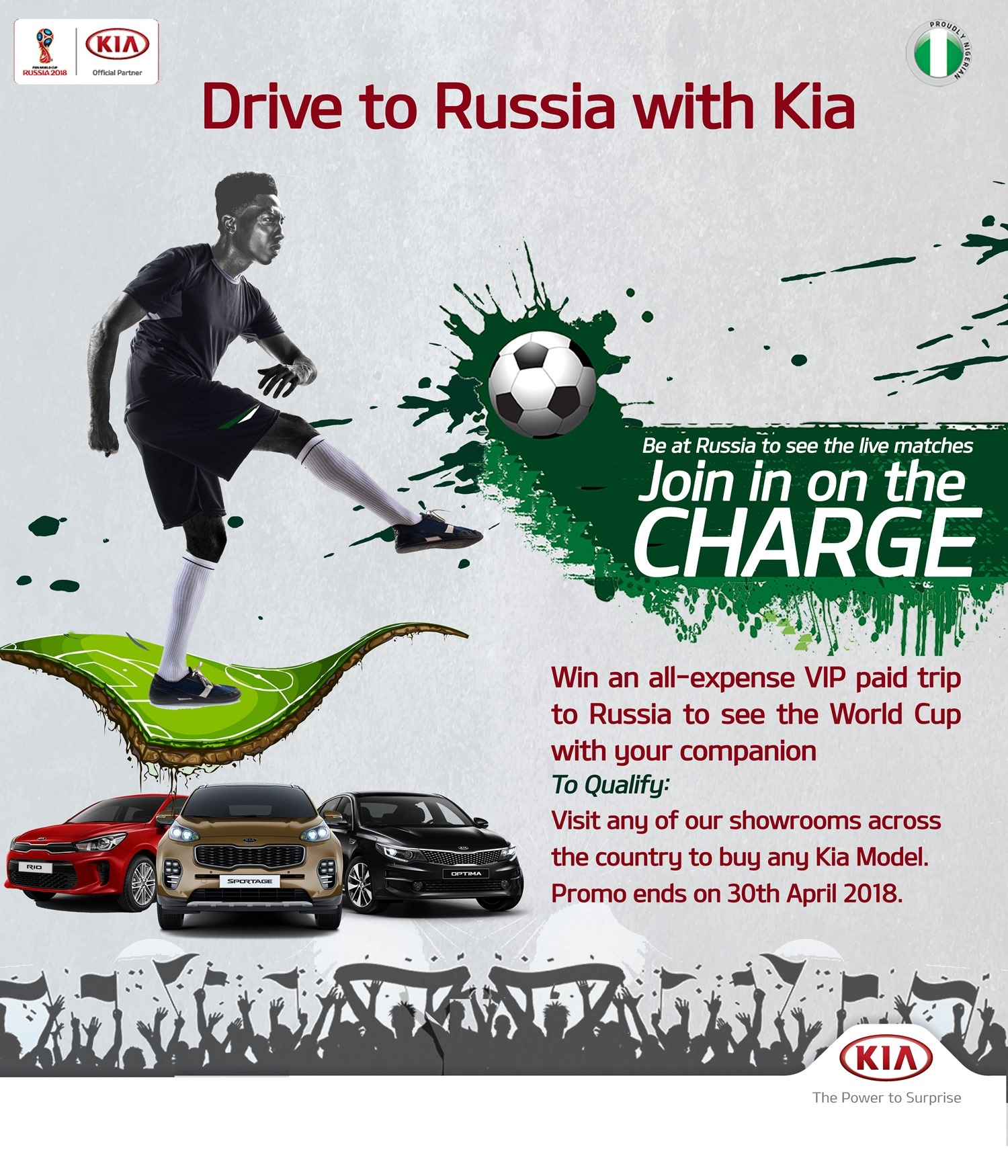 Drive To Russia With Kia: Win An All-Expense Paid Trip For Two To The World Cup - Brand Spur