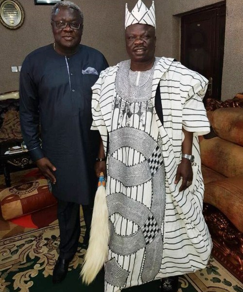 FirstBank MD & Management Visits Kwara Governor, Monarch (Pictures)