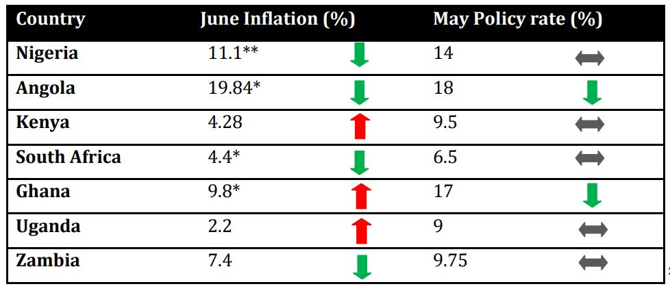 YEAR-ON-YEAR INFLATION SET TO FALL AGAIN TO 11.1%, BUT MONTHLY INFLATION TO SPIKE - Brand Spur
