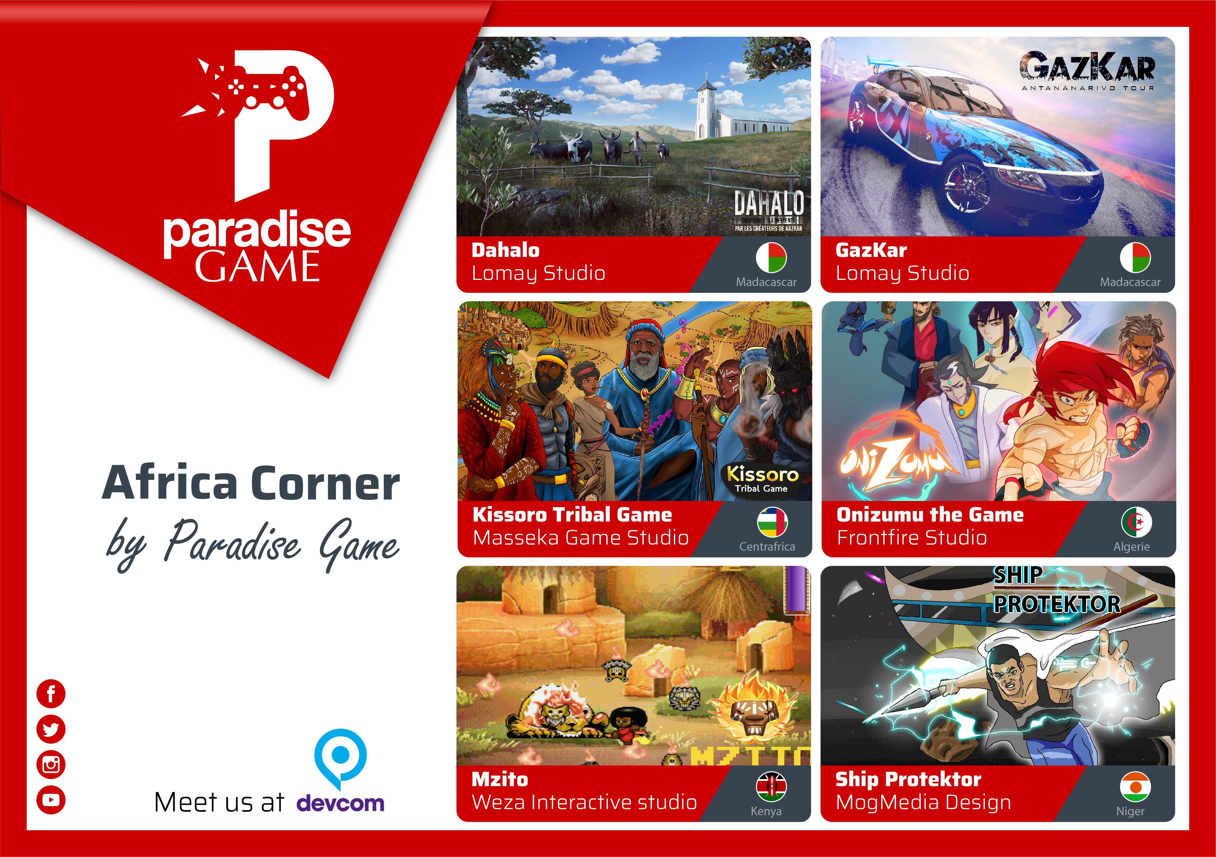 Video Games made-in-Africa reach the Global Scene during Devcom Thanks to Paradise Game, ahead of Gamescom 2018