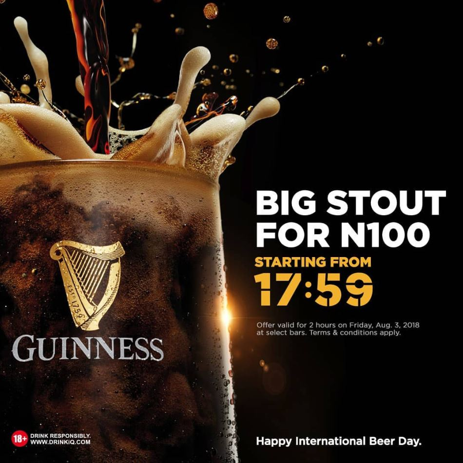 International Beer Day: Enjoy a Big Stout at the extraordinary price of N100 - Brand Spur