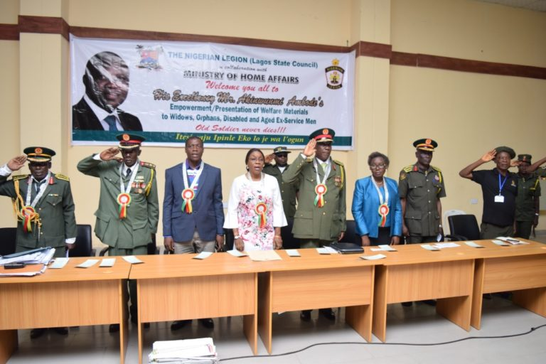 LASG EMPOWERS EX-SERVICEMEN, ORPHANS AND WIDOWS (PHOTOS) - Brand Spur