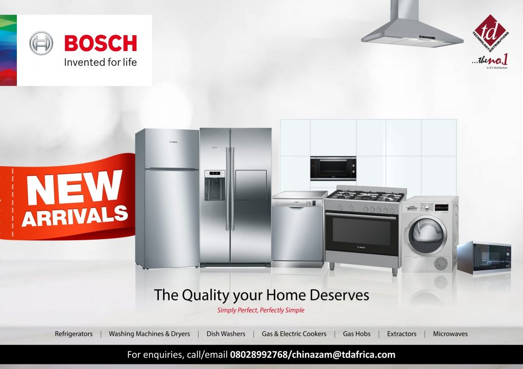 Bosch Unveils Wide Array of Home Appliances for Nigerian Market