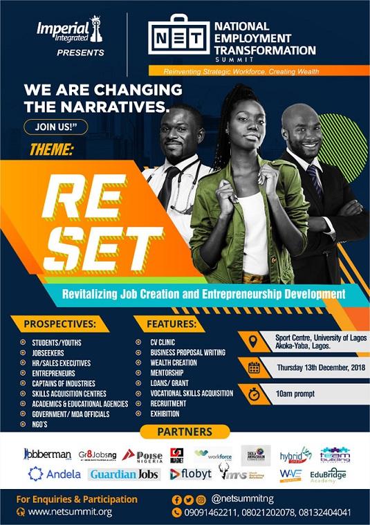 NETSummit Partners Andela, Dragnet, WorkForce Others… Pledges Decline in Unemployment