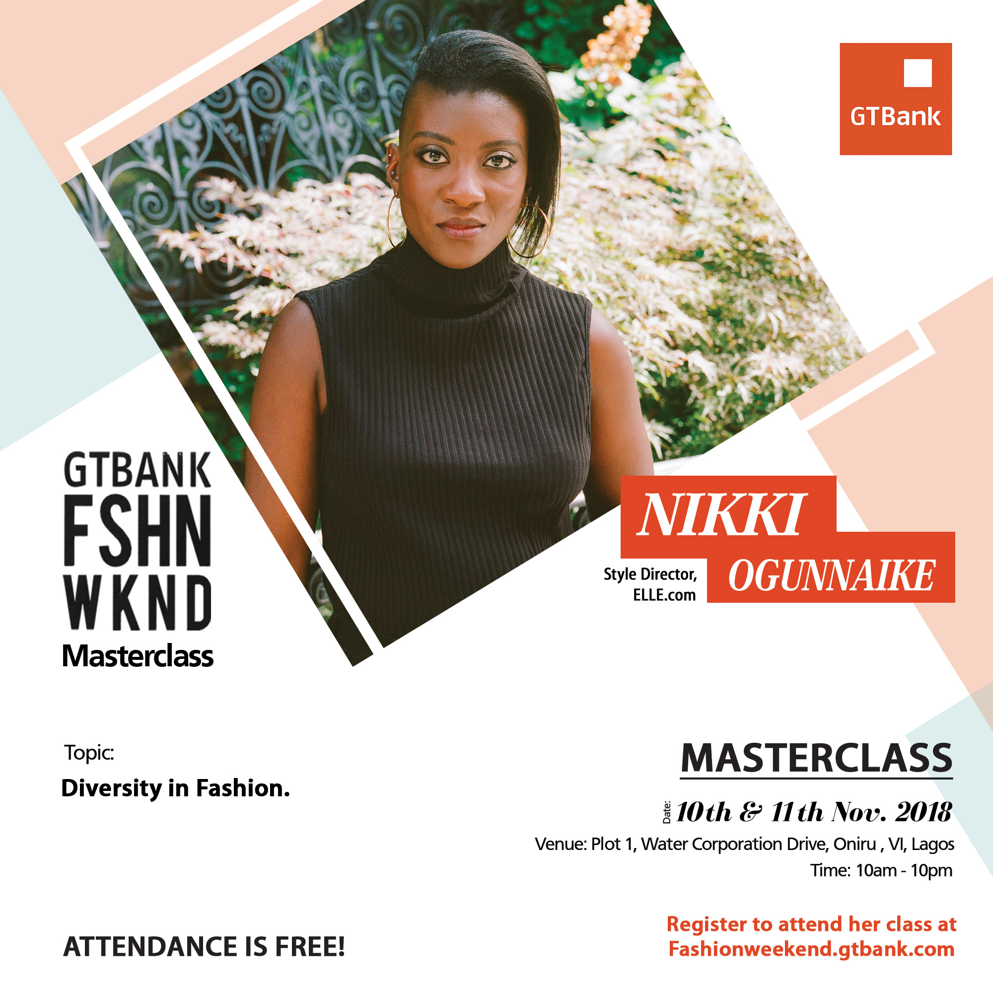 BRITISH VOGUE EDITOR-AT-LARGE, JULIA SARR-JAMOIS TO HOLD MASTERCLASS AT 2018 GTBANK FASHION WEEKEND