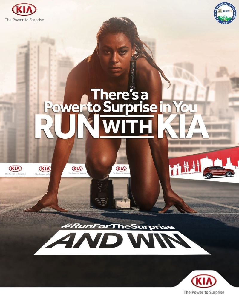 #AccessBankLagosCityMarathon: Win Awesome Giveaways in the Race with Kia