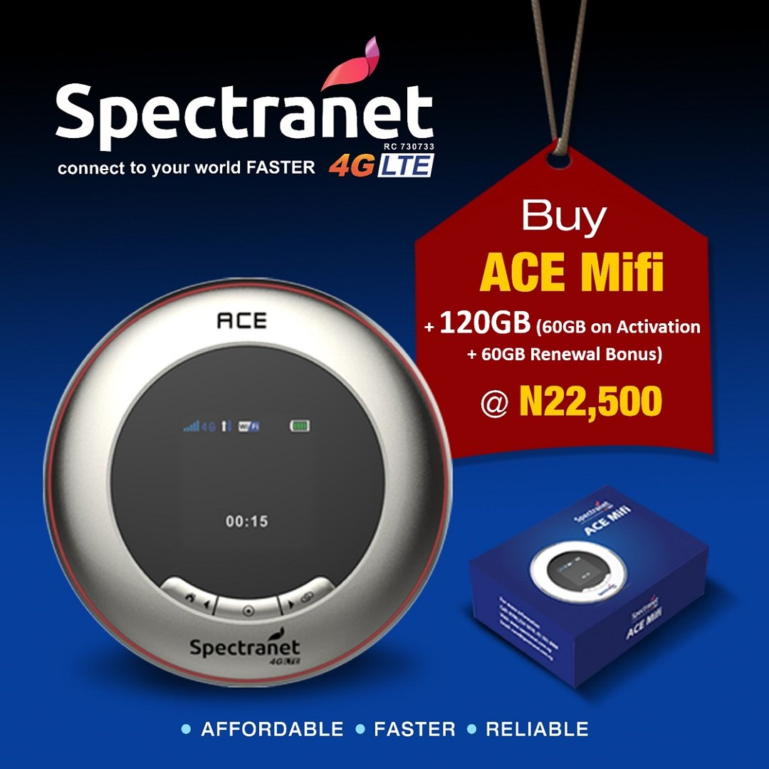 Spectranet launches Trendy, Sleek ACE MiFi to excite subscribers - Brand Spur