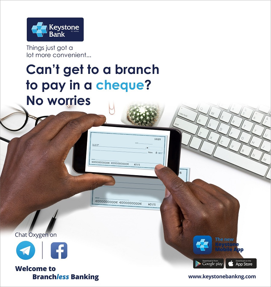 Keystone Bank introduces first 'Cheque Deposit' in mobile app in Nigeria - Brand Spur
