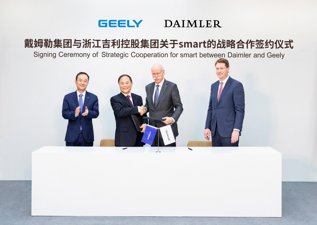 Daimler and Geely Holding form global joint venture to develop smart
