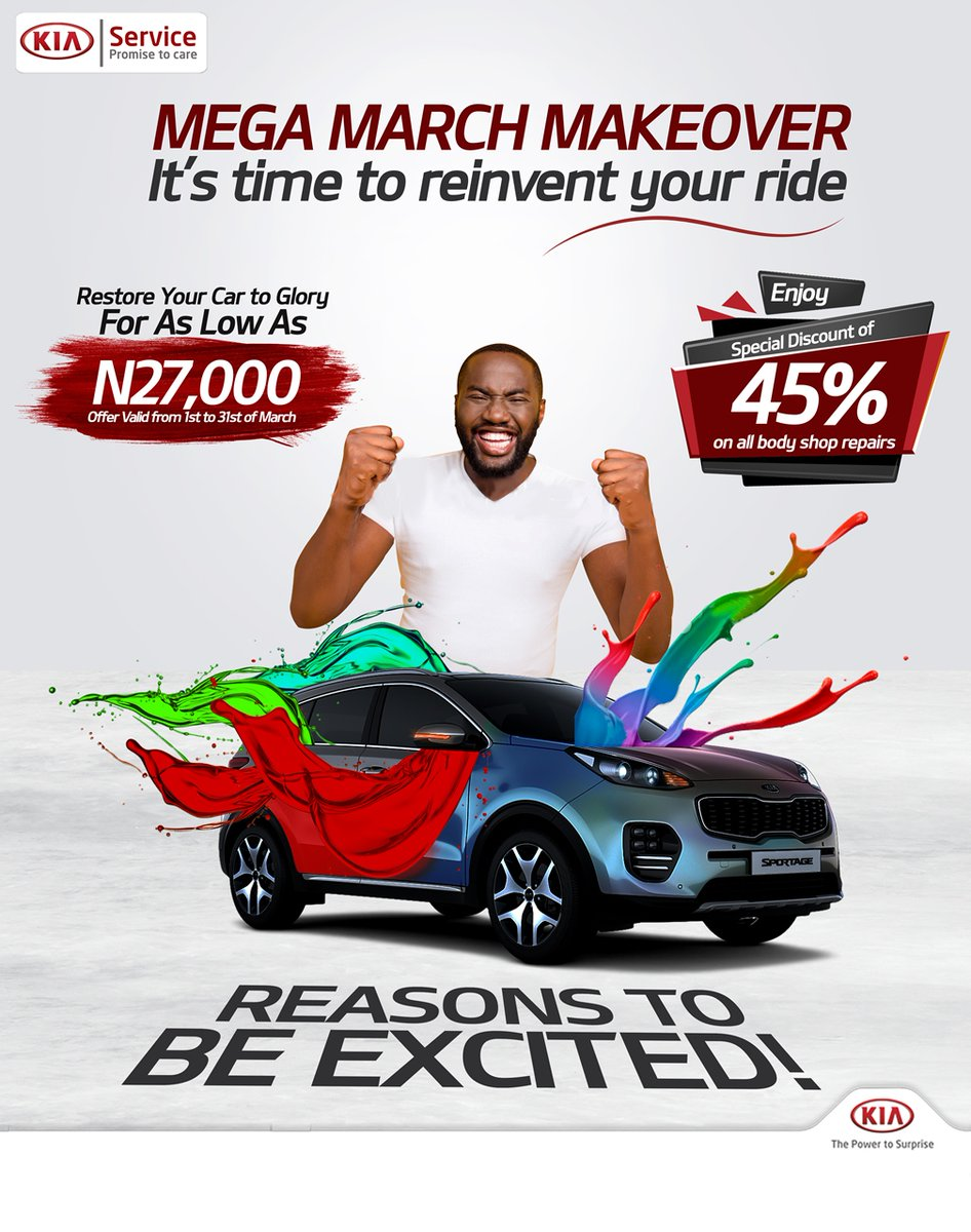 Kia Mega March Makeover! Give Your Car a New Look For as low as N27,000 - Brand Spur