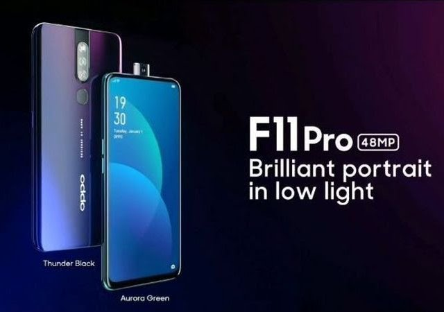 Oppo Unveils F11 Pro Smartphone With 48MP Rear Camera, Pop-Up Selfie Camera