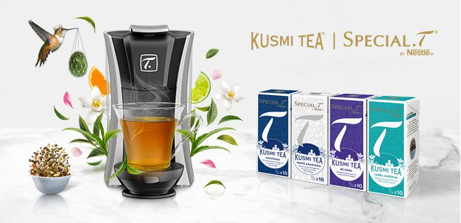 SPECIAL.T and KUSMI TEA join forces to launch a new range of tea capsules Share this page