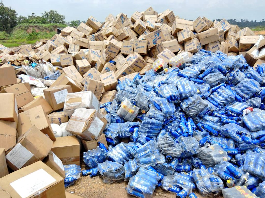 NAFDAC Destroys Unwholesome Products Worth Over Two Billion Naira (Photos) - Brand Spur
