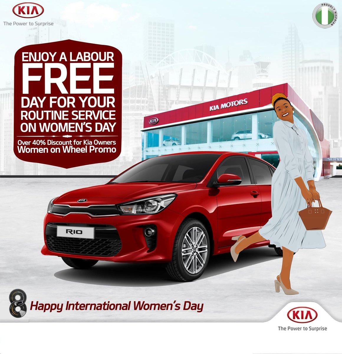 Kia Women on Wheel Promo: Enjoy a labour free day for your routine service on Women's Day