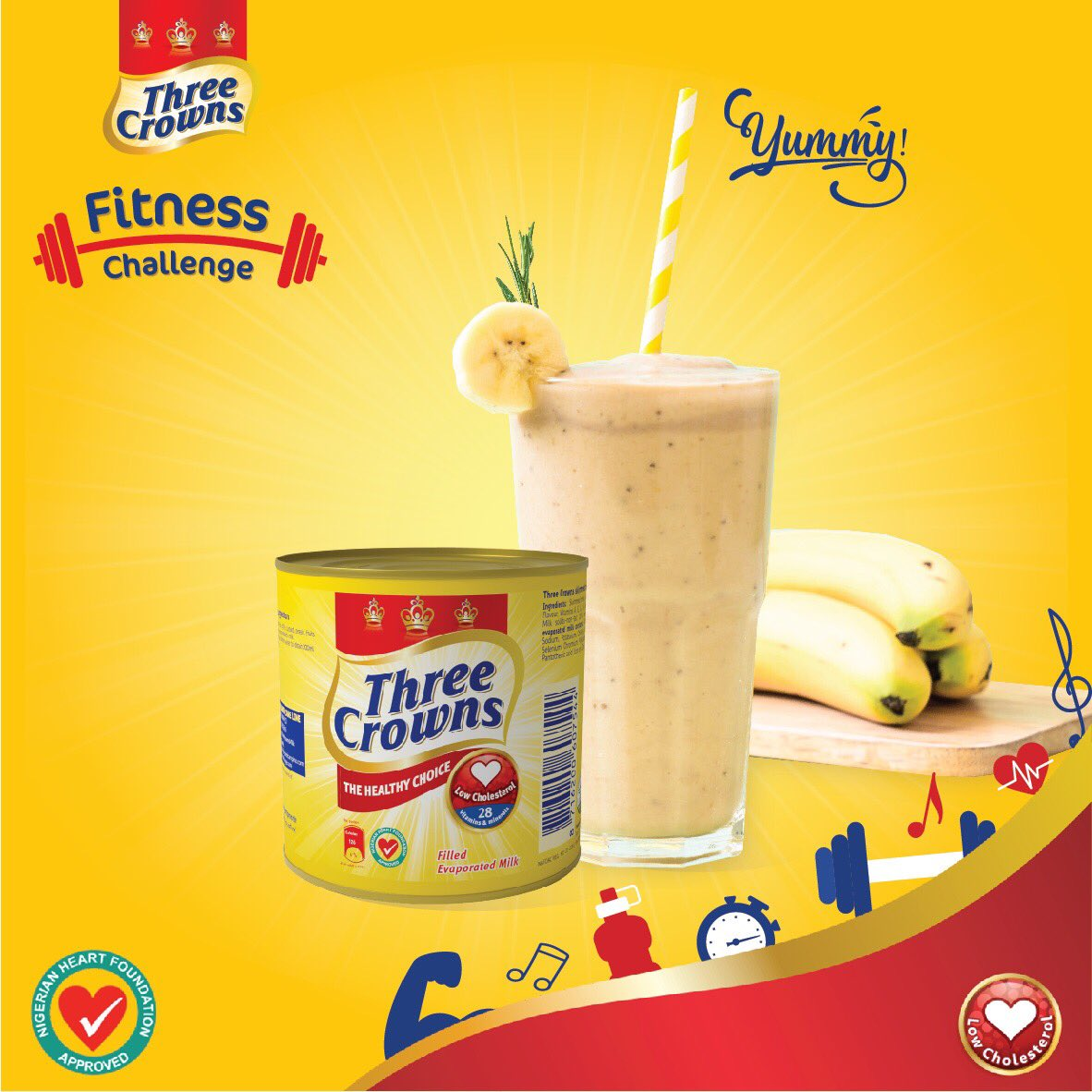 Three Crowns milk commences 30 days Fitness Challenge for a great heart. - Brand Spur