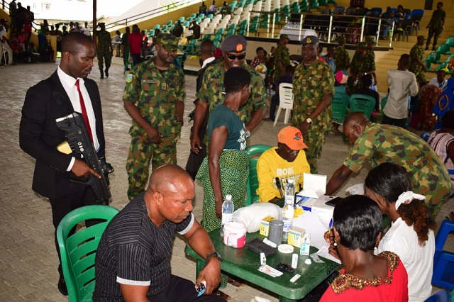 MOBILITY COMMAND HOLDS MEDICAL OUTREACH TO MARK NAF'S 55TH ANNIVERSARY CELEBRATION AS BAYELSA GOVERNOR COMMENDS NAF HUMANITARIAN ACTIVITIES