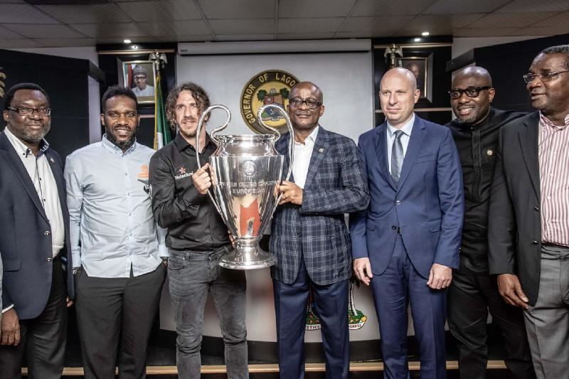 Photos: Ex-Barcelona Captain, Puyol visits Lagos As Part of The UEFA Champions League Tour Presented By Heineken® (PHOTOS)