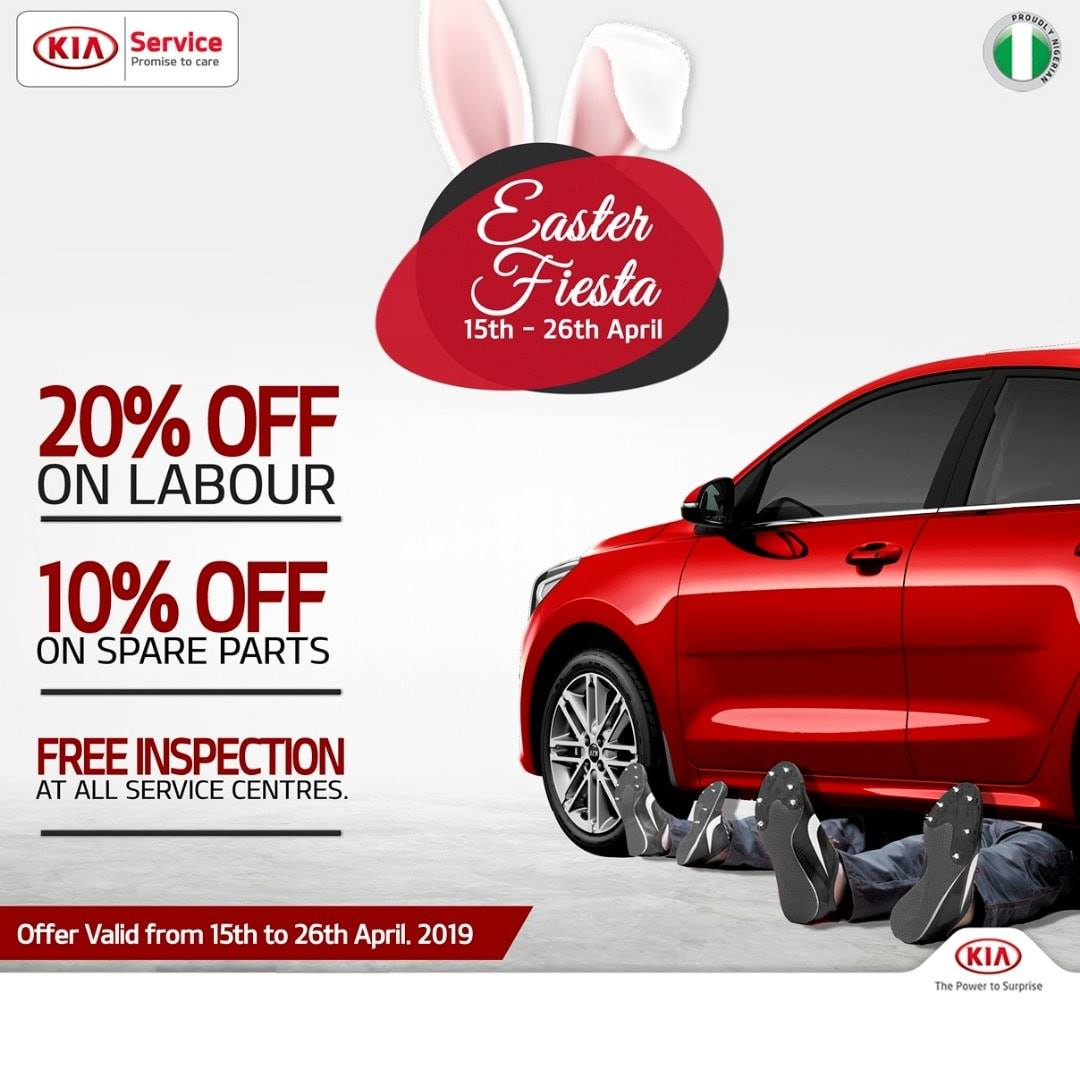 Kia Easter Fiesta! Enjoy Massive Discounts on Labour and Spare Parts with FREE Inspection - Brand Spur