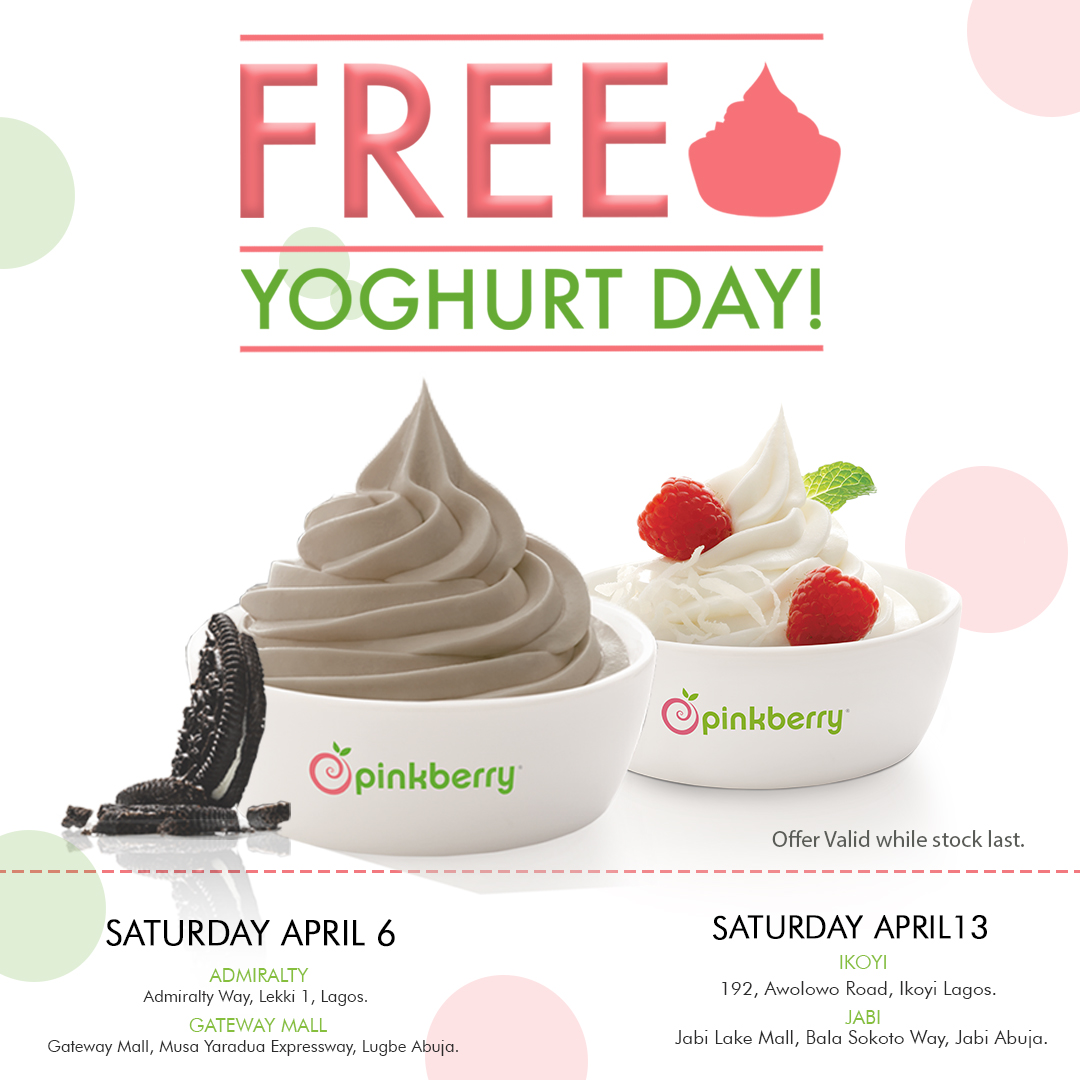 PINKBERRY FREE YOGHURT DAY! COOL OFF THE HEATWAVE WITH FREE FROYO FROM PINKBERRY THIS SATURDAY AND NEXT! - Brand Spur