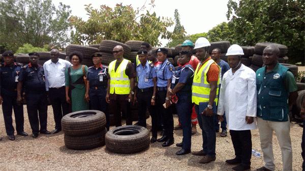 SON Destroys Substandard Tyres Worth N50m in Enugu
