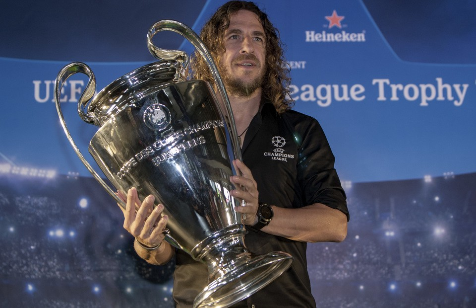 Football Superstar, Puyol Confirms Impending Arrival In Nigeria For UEFA Champions League Tour (Video)