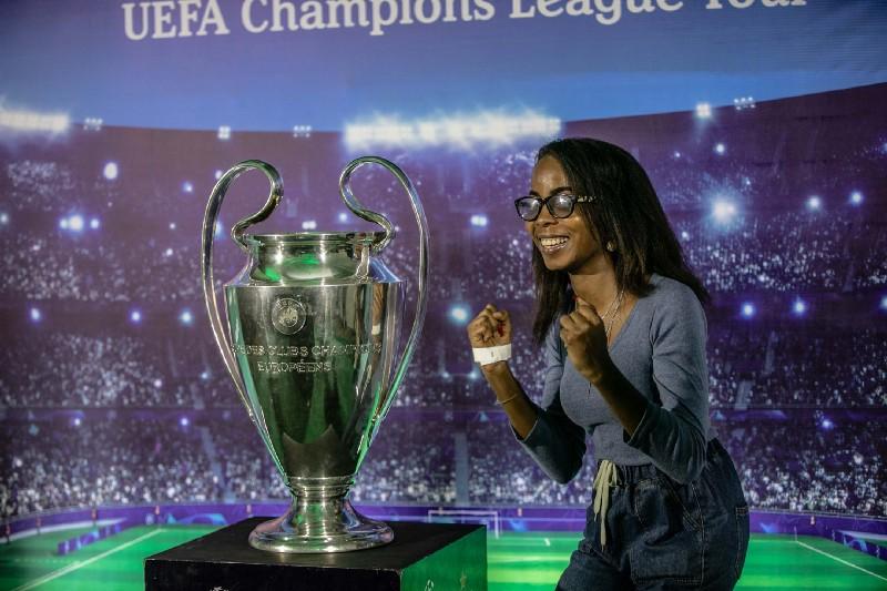 Photos: Tiwa Savage, 2baba, JJ Okocha, Stephanie Coker and Uti Nwachukwu Join Football Legend Carles Puyol For UEFA Champions League Tour