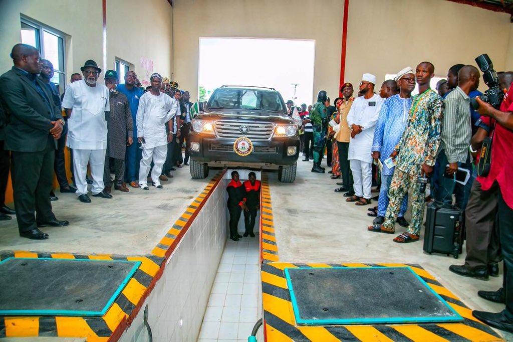 Rotimi Akeredolu commissions Computerised Vehicle Inspection Center in Ondo (Photos)