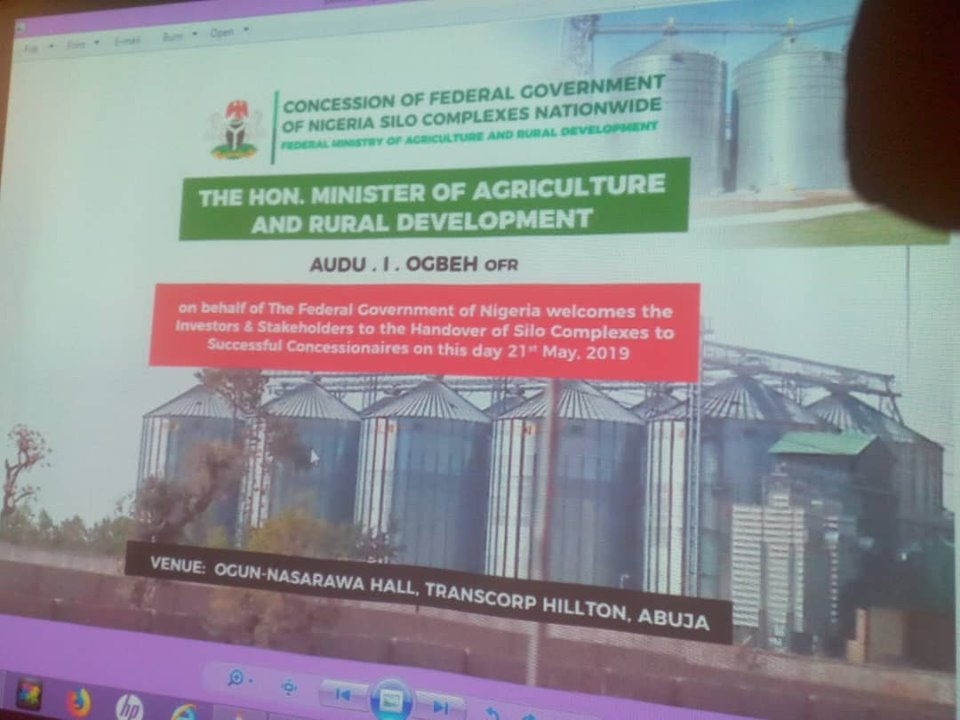 Federal Government Hands Over Concessioned Silo Complexes To Concessionaires