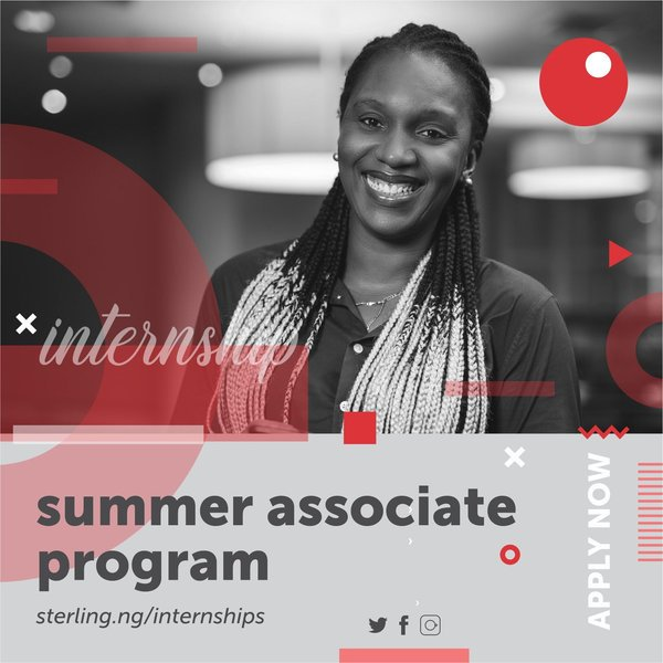 Here is how to apply for the 2019 Sterling Bank Summer Associate Programme
