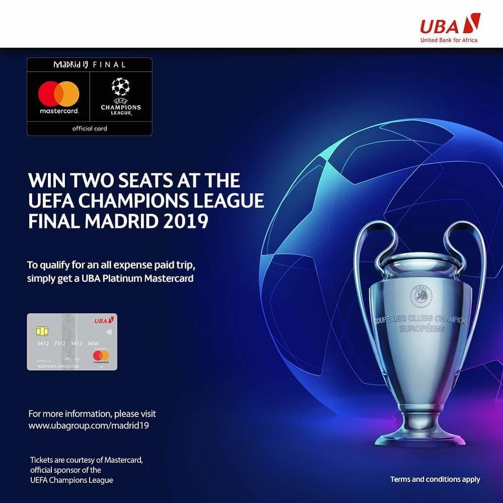 UBA in partnership with Mastercard Reward Customers with All-Expense Paid Trip to UEFA Champions League Semi's & Finals - Brand Spur