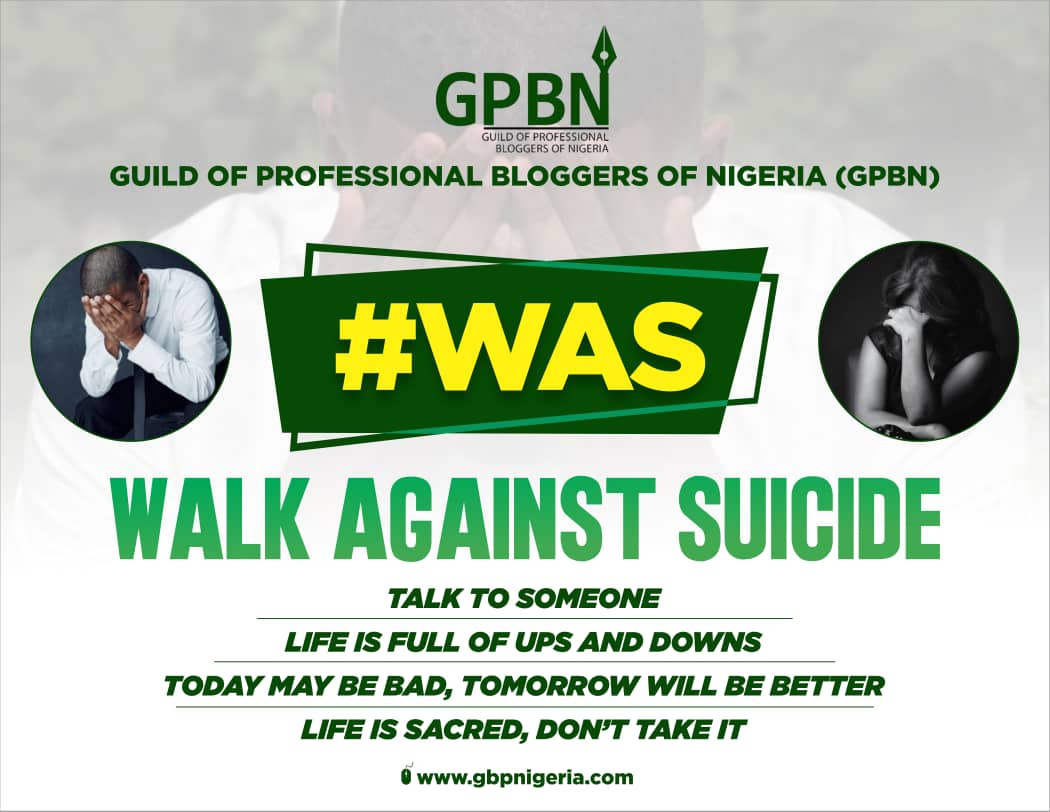 GPBN SETS TO EMBARK ON #WAS (WALK AGAINST SUICIDE)