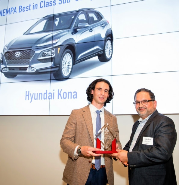 Hyundai Kona highly commended as Best-In-Class Subcompact SUV in New England Motor Press Association