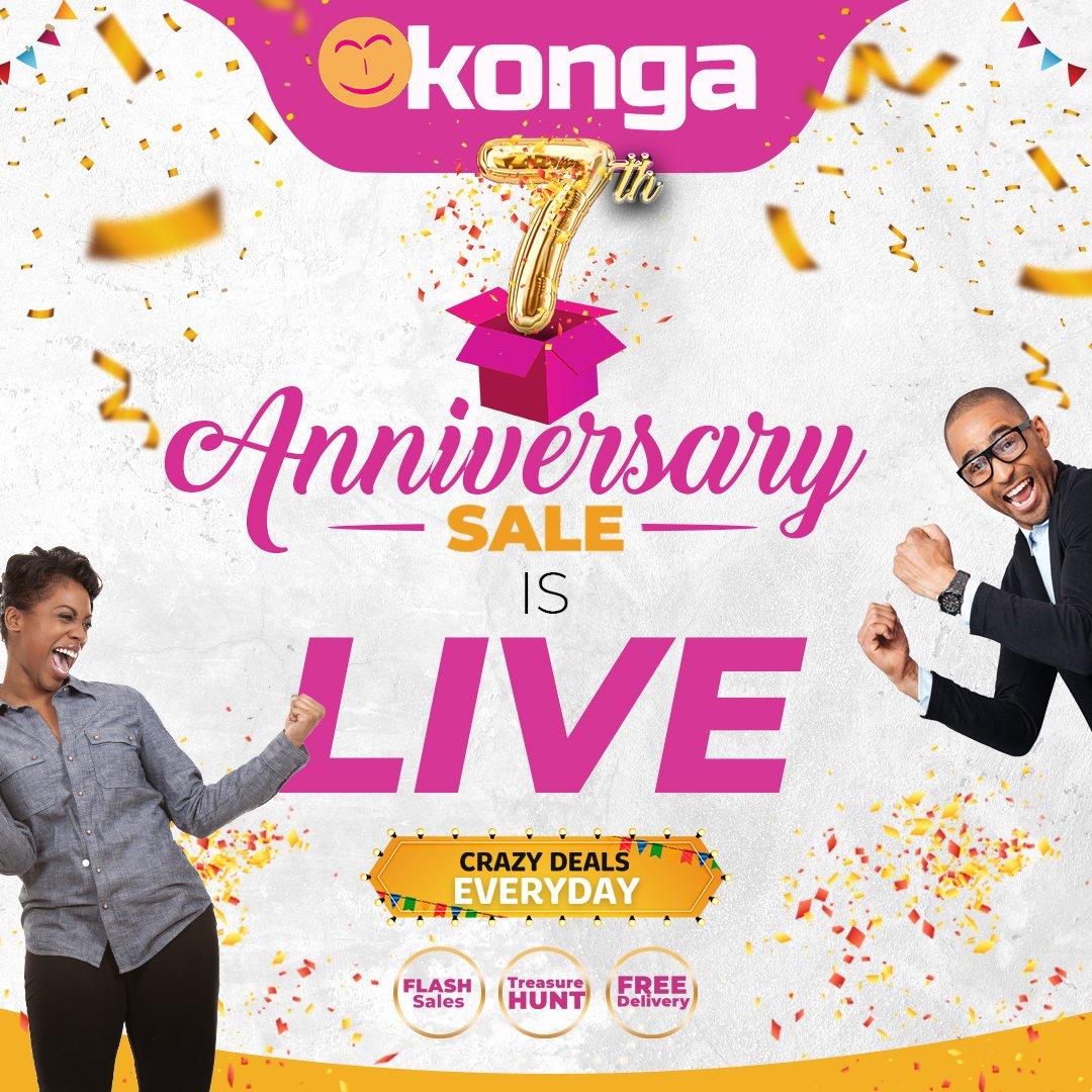PRICES CRASH AT KONGA FOR 7TH ANNIVERSARY