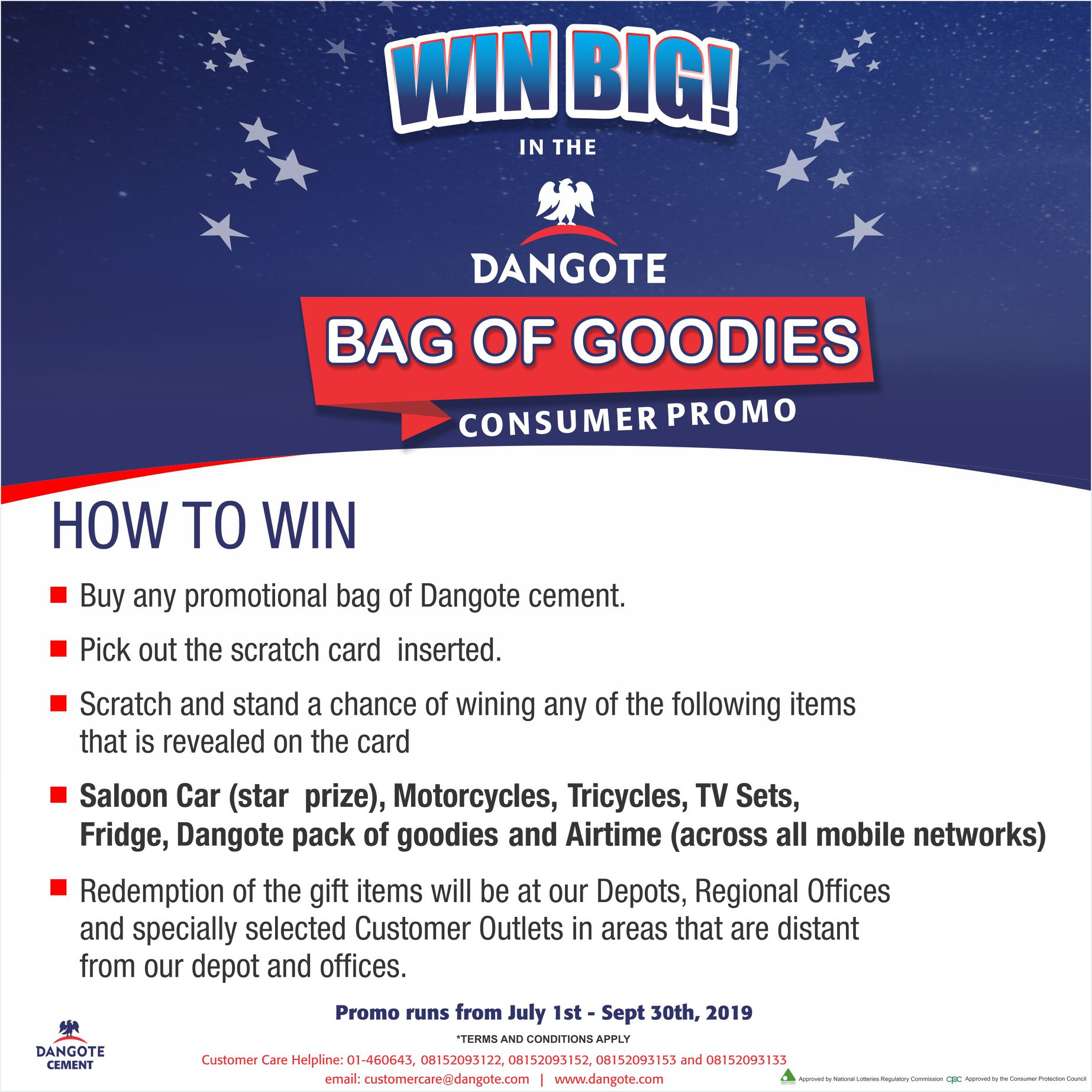 21 Million Winners To Emerge From Dangote Cement Jumbo Promo
