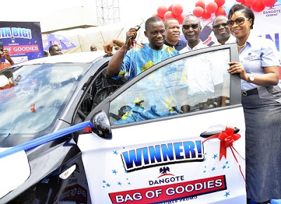 Dangote Cement Scratch And Win Promo Record First Star Prize Winner