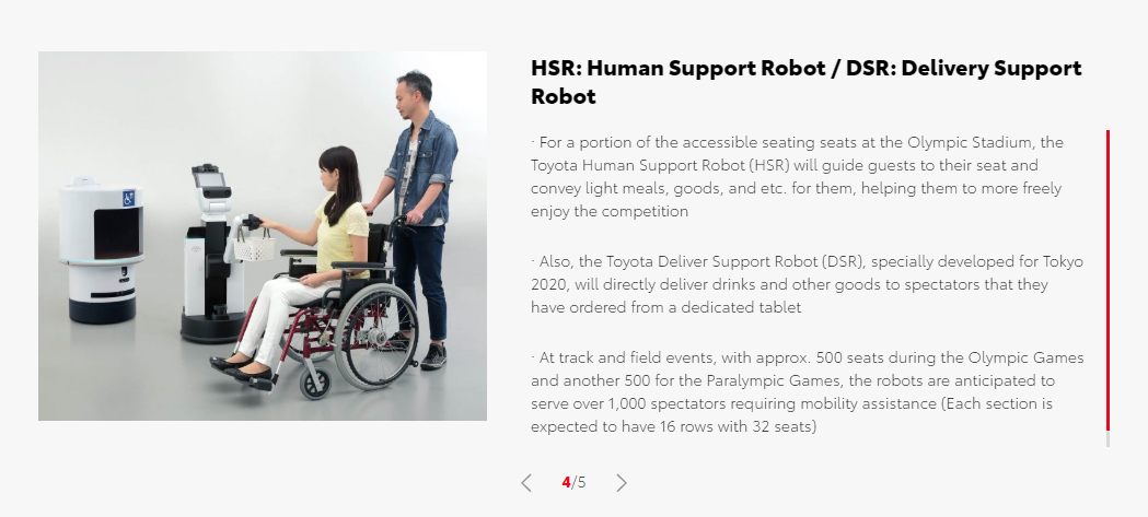 Toyota Robots Assist People Experience Their Dreams Of Attending The Olympic And Paralympic Games Tokyo 2020 - Brand Spur