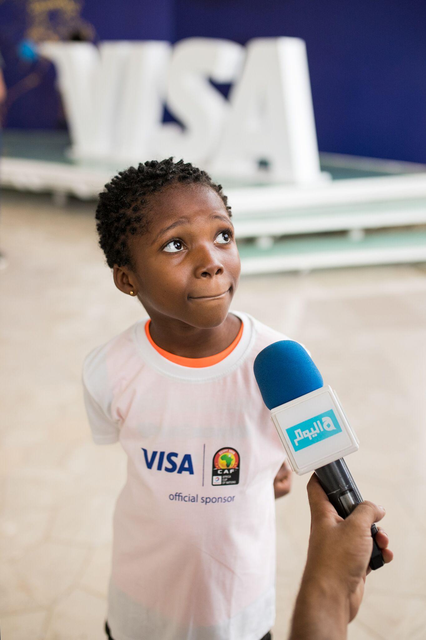 Visa Player Escort Programme makes dreams come true for Nigerian children (Photos)