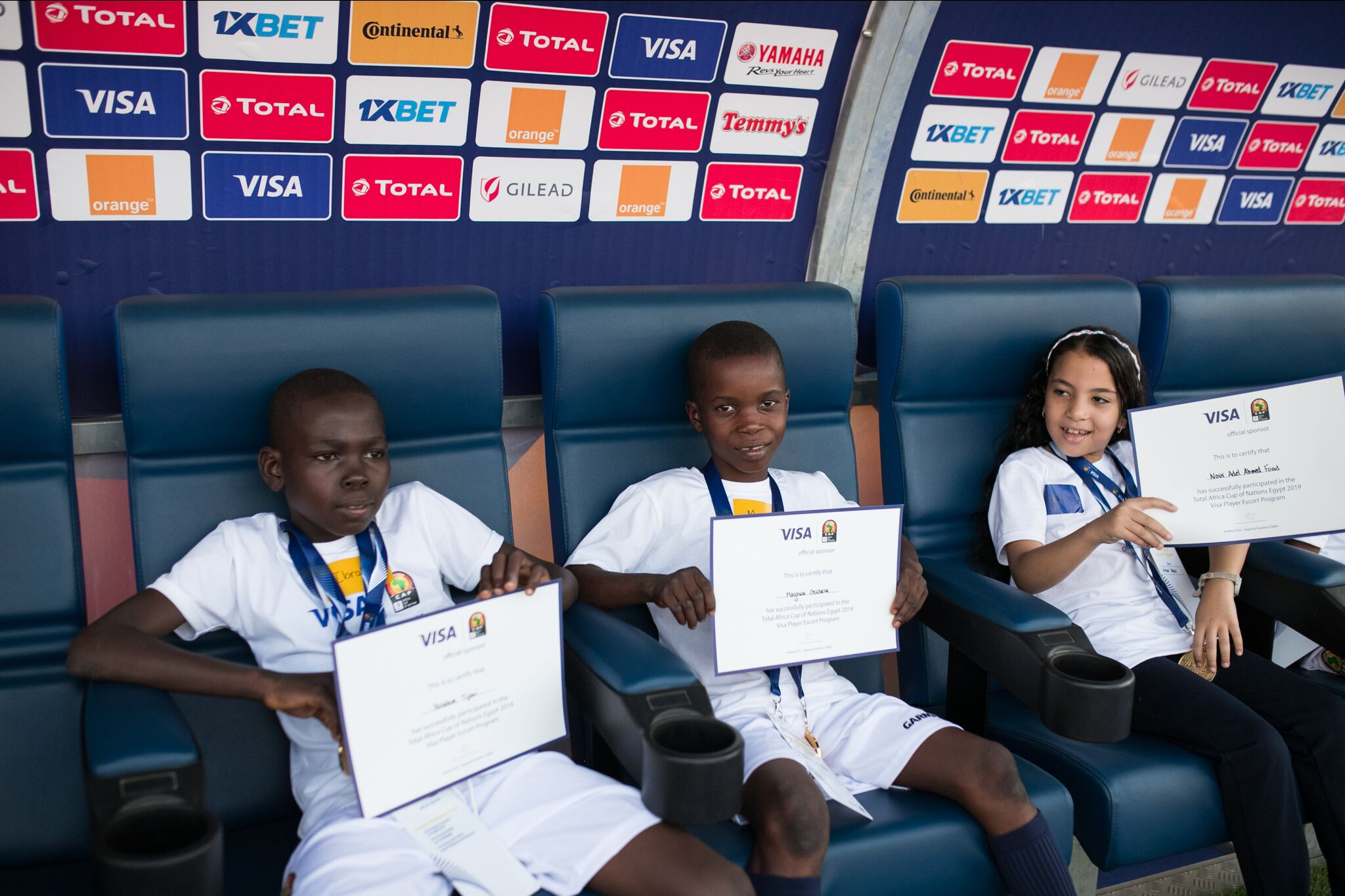 Visa Player Escort Programme makes dreams come true for Nigerian children (Photos) - Brand Spur