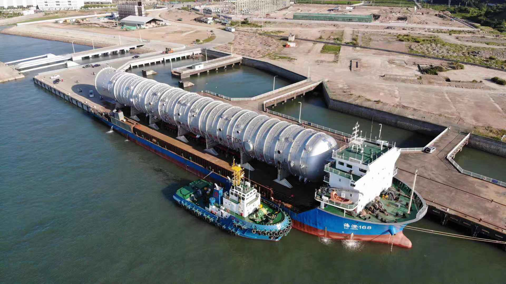 World's largest atmospheric tower for Nigeria's Dangote refinery sets sail from China (Photos) - Brand Spur