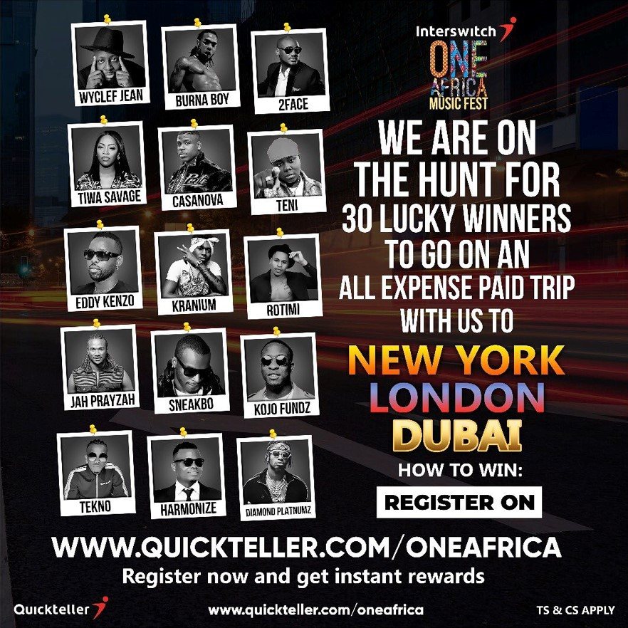 Win an all expense paid trip to New York, London or Dubai! Come party with the Stars!
