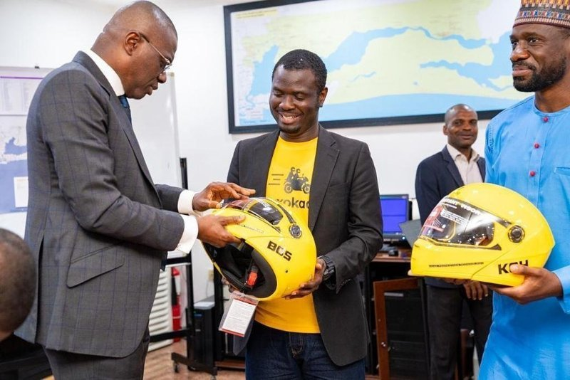 MAX.Ng Visits Lagos State Governor, Seeks Partnership To Formalize Bike-Hailing Sector (Photos)