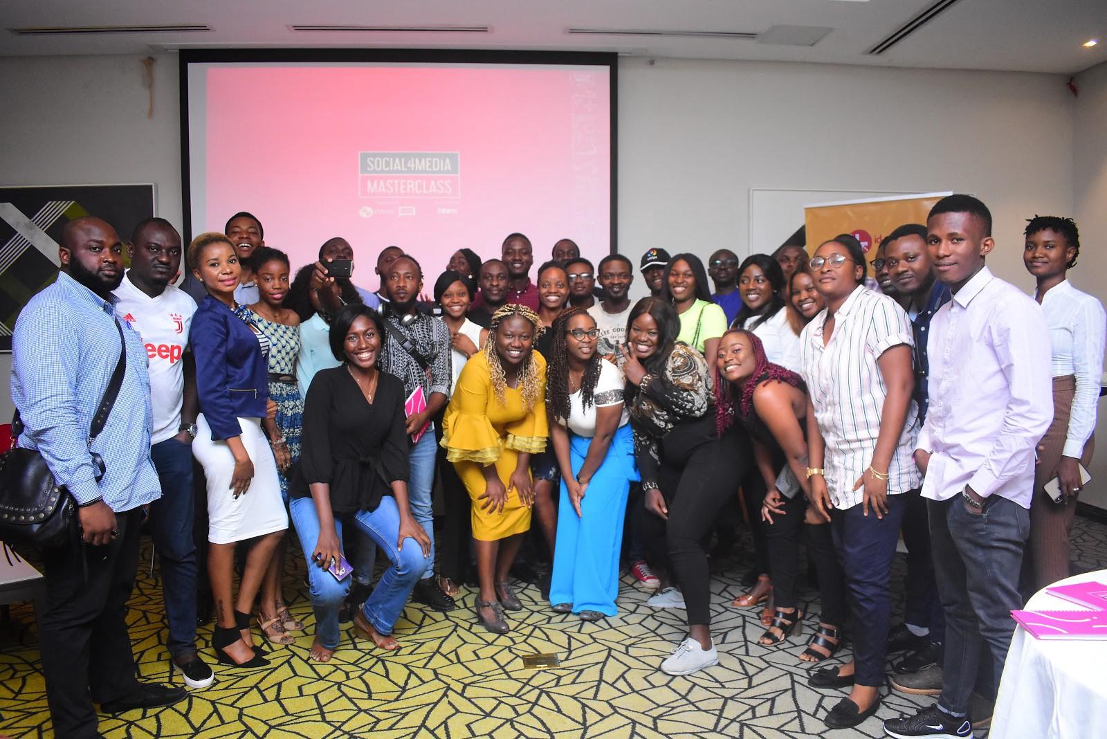 Gbemi O, SLKomedy, Femi Bakre, Fu'ad Lawal, Others Train Over 50 Media Professionals At 2019 Social4Media Masterclass - Brand Spur