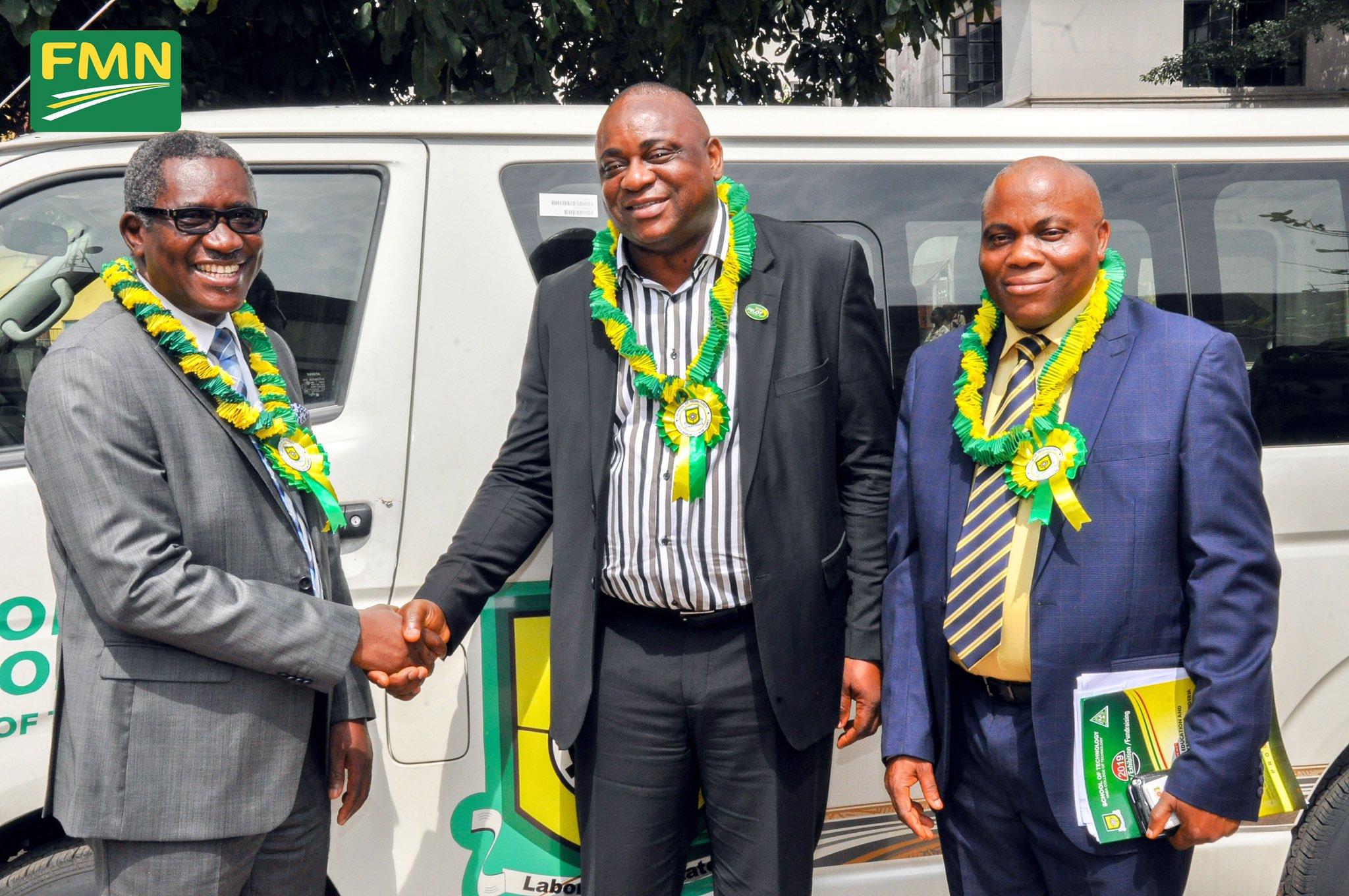 Photo News: Flour Mills of Nigeria donates brand new bus, Laboratory equipment & furniture worth N60m to YABATECH