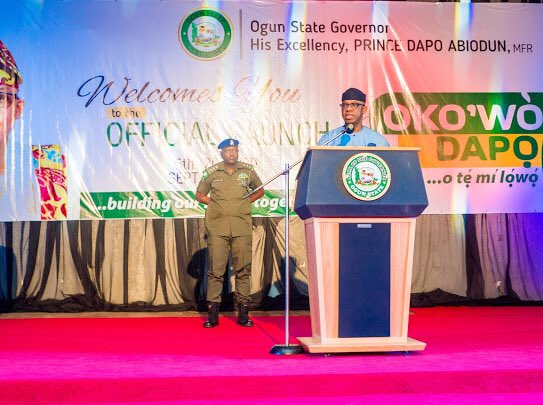 Ogun State Governor launches interest-free loan scheme, Oko'wo Dapo