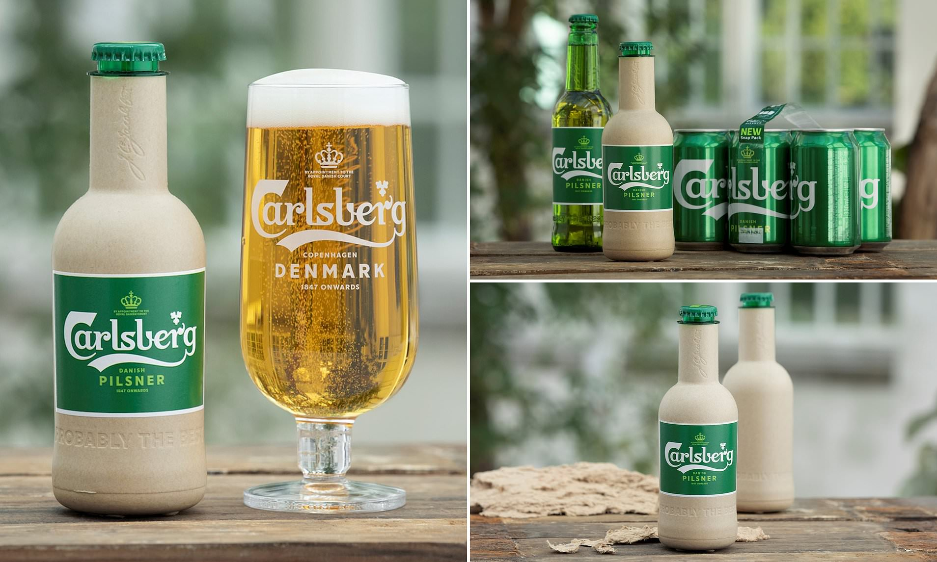 Carlsberg Unveils 'World's First' Paper Beer Bottle - Brand Spur