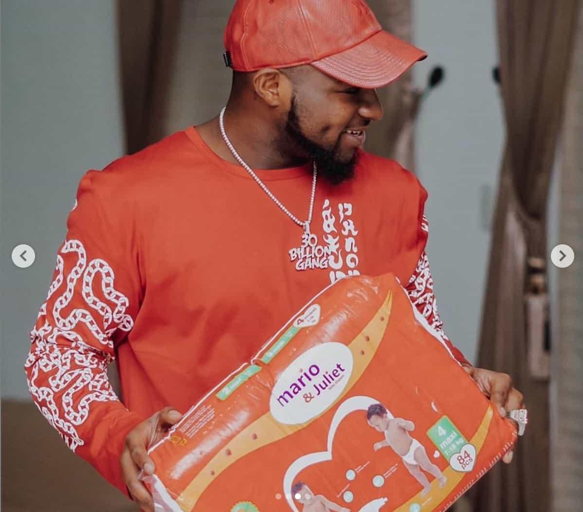 "Davido's ""Unborn Son"" Bags Endorsement Deal with Mario & Juliet Diapers (Photos) - Brand Spur"