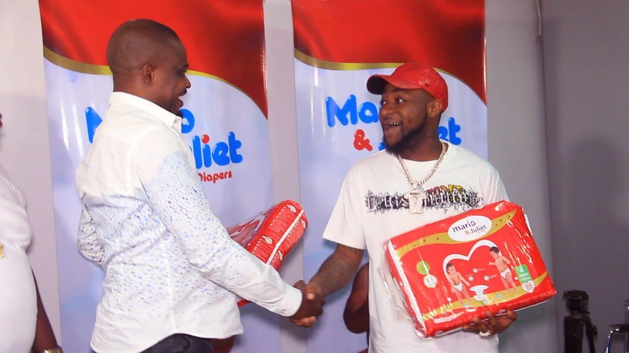 "Davido's ""Unborn Son"" Bags Endorsement Deal with Mario & Juliet Diapers (Photos)"